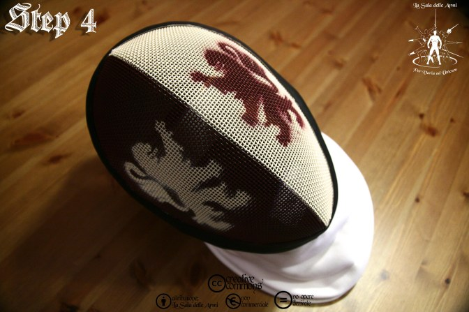 Come dipingere una maschera di scherma / How to paint a fencing mask